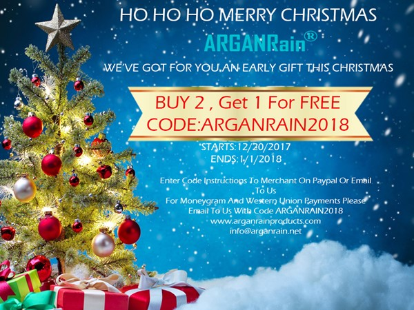 ARGANRAIN BEAUTY PRODUCTS GREAT CHRISTMAS OFFER