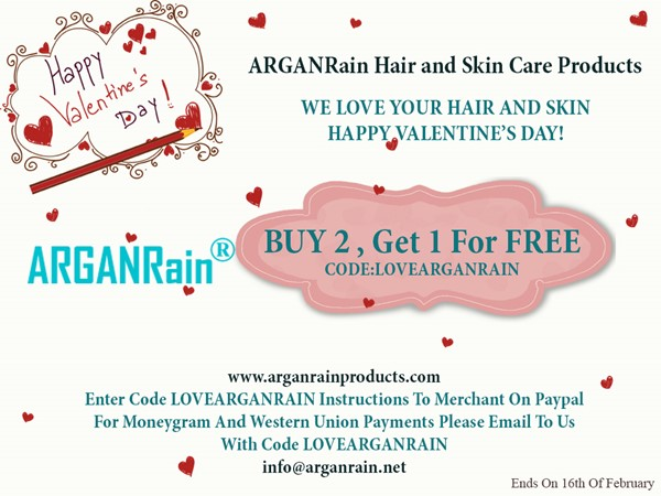 ARGANRAIN VALENTINE'S DAY 2018 OFFER