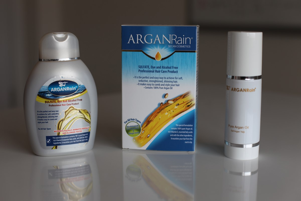 Best and Natural Arganrain Shampoo and Argan oil