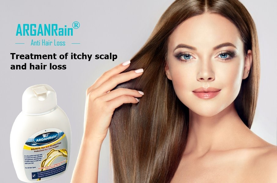 arganrain itchy scalp hair loss shampoo